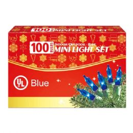 24 Units of 100l blue comp. ul - Christmas Decorations