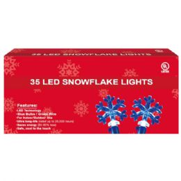 36 Units of 35L LED snowflake blue - Christmas Decorations
