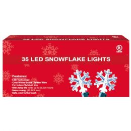 72 Units of 35L LED snowflake clear - Christmas Decorations