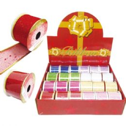 "72 Units of X""mas gift ribbon 2.8mmx3yd - Christmas Gift Bags and Boxes"