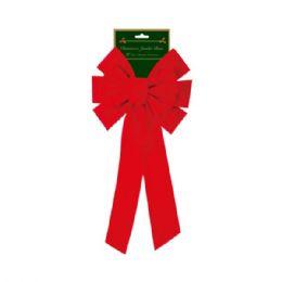 "144 Units of 20"" x'mas bow/jumbo - Christmas Decorations"