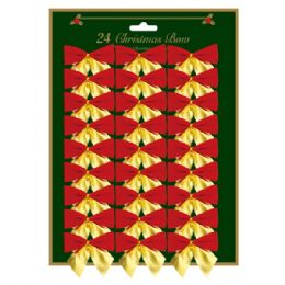 144 Units of Xmas Bow - Christmas Decorations