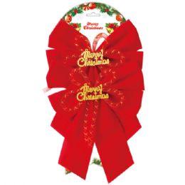 "144 Units of 2pc x'mas bow 8.3x10.5"" - Christmas Decorations"