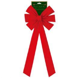 "144 Units of 30"" x'mas bow/jumbo - Christmas Decorations"