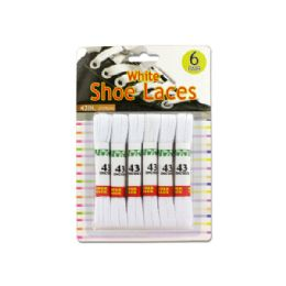 72 Units of White Shoe Laces - Footwear Accessories