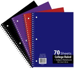 48 Units of 1 Subject 70 Sheet Notebook College Ruled - Notebooks