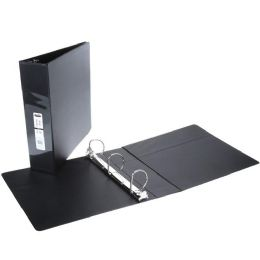 36 Units of 2 Inch View Binder With Inner Pockets Black - Clipboards and Binders