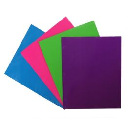 192 Units of 2 Pocket Portfolio 250 Gsm Laminated Neon Colors - Folders and Report Covers