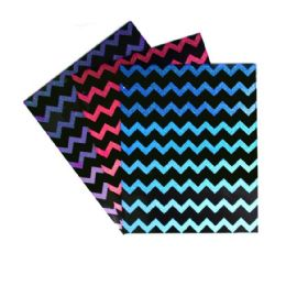 192 Units of 2 Pocket Portfolio Ombre Glitter Chevron 250 Gsm Laminated - Folders and Report Covers