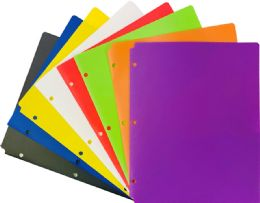 48 Units of 2 Pocket Poly Portfolio Colors - Folders and Report Covers