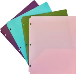 48 Units of 2 Pocket Poly Portfolio Bright Colors - Folders and Report Covers