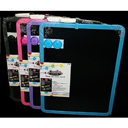 24 Units of Dry Erase Magnetic Black Board 11x14in - Dry Erase