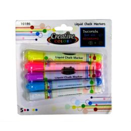 48 Units of Chalk Markers 5ct Assorted Colors - Markers and Highlighters