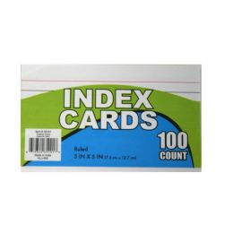 60 Units of Index Cards 3x5in 100 ct - Labels ,Cards and Index Cards