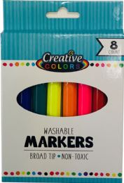 48 Units of 8 Ct Washable Broad Tip Markers - Markers and Highlighters