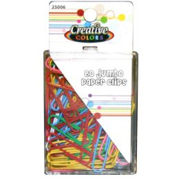 96 Units of 80ct Jumbo Paper Clips - Clips and Fasteners