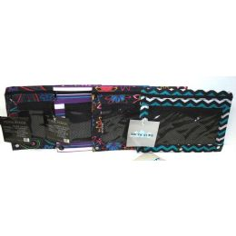 48 Units of DOUBLE ZIPPER PENCIL POUCH WITH MESH QUICK VIEW POCKET Trendsetters - Pencil Boxes & Pouches