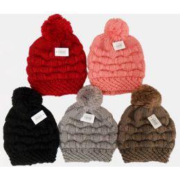 36 Units of Ski Hat with Pompom