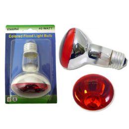 72 Units of 40 Watt Colored Flood Lightbulb Red Blue Green Yellow - Lightbulbs