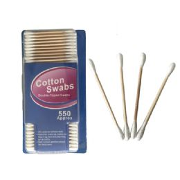 72 Units of 550 Piece Wooden Cotton Swabs - Bath And Body