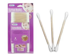 72 Units of 350 Piece Wooden Cotton Swabs - Cotton Balls & Swabs