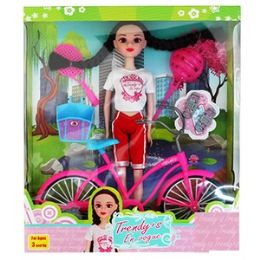 12 Units of TRENDY'S DOLL WITH BICYCLE PLAYSETS - Dolls