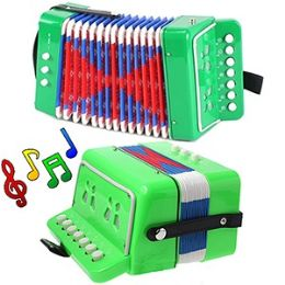 12 Units of CHILD'S ACCORDION - GREEN. - Musical
