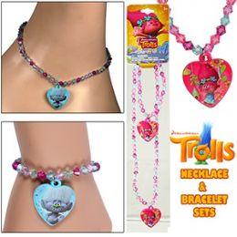 72 Units of DREAMWORK'S TROLLS NECKLACE & BRACELET SETS - Bracelets