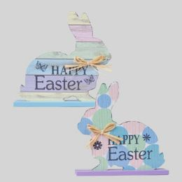 72 Units of Table Decor Easter Sitting Bunny - Easter
