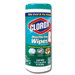 24 Units of Clorox Disinfecting Wipes, 35ct - Cleaning Products