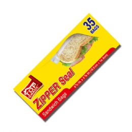 96 Units of 35ct Sandwich Bags - Food Storage Containers