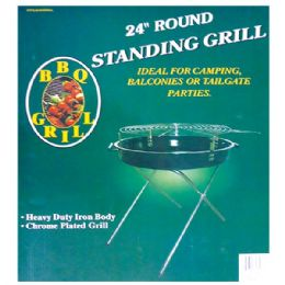"4 Units of 24"" Standing grill folding w/ 4 legs - BBQ supplies"