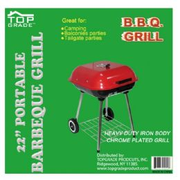"""2 Units of 22"""" Covered grill w/wheel - BBQ supplies"""