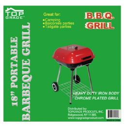 """2 Units of 18"""" Covered grill w/wheel - BBQ supplies"""