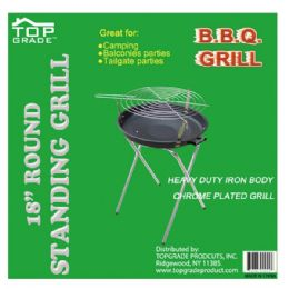"""4 Units of 18"""" Standing grill folding - BBQ supplies"""