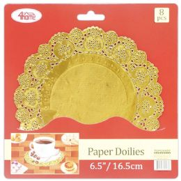 96 Units of 8 Count Doilie Gold - Placemats and Doilies