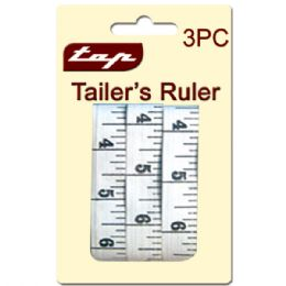 96 Units of Three Piece Tailor Ruler Set - Sewing Supplies