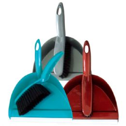 48 Units of Deluxe dustpan w/brush - Cleaning Products