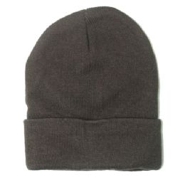 72 Units of PLAIN DARK GREY BEANIE