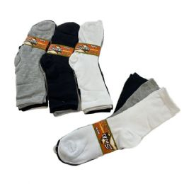 60 Units of Womens Basic Color Crew Socks - White Black Gray - Womens Crew Sock