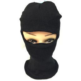 60 Units of Unisex Black Ski Hat/Mask One size fits ALL - Unisex Ski Masks
