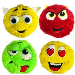 24 Units of Plush Colorful Furry Emojis - Pillows