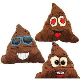 48 Units of Large Plush Poo Emojis - Pillows