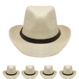 24 Units of Western Cowboy Hat In Off White - Cowboy & Boonie Hat