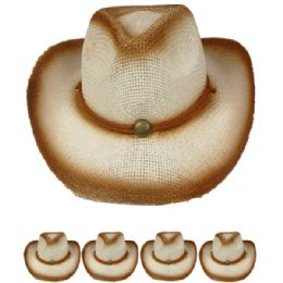 24 Units of Brown Colored Cowboy Hat - Cowboy & Boonie Hat