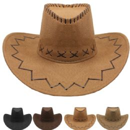 24 Units of Assorted Color Felt Cowboy Hat - Cowboy & Boonie Hat