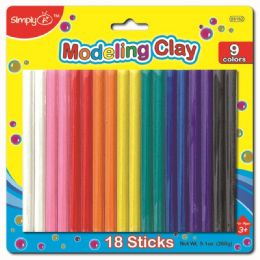 96 Units of Nine Color Modeling Clay - Clay & Play Dough