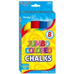 144 Units of Eight Count jumbo colored chalks - Chalk,Chalkboards,Crayons