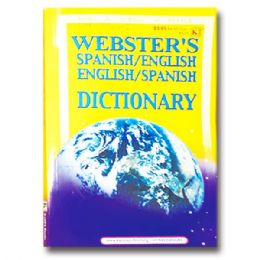 72 Units of Webster's Dictionary Spanish/English - Crosswords, Dictionaries, Puzzle books