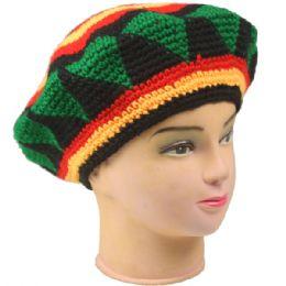 36 Units of Mens Winter Crochet Beret Hat - Fashion Winter Hats